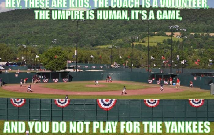 These are kids. The umpire is human.